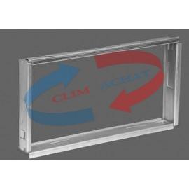 Contre-cadre métallique de L400xH100 Prof. 35 mm