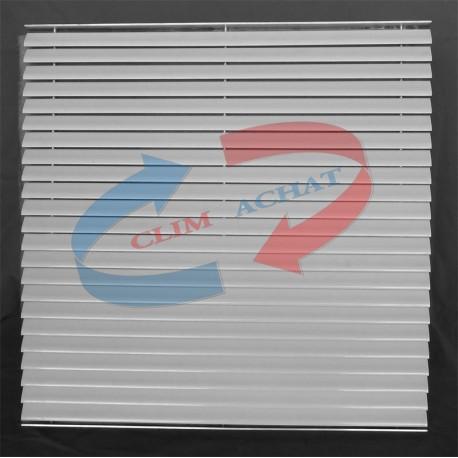 Grille de reprise pour plafond modulaire avec filtre L593xH593