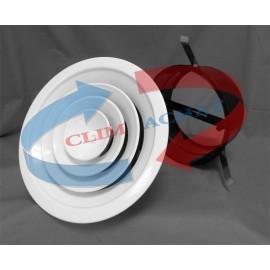 Diffuseur circulaire avec registre papillon et col d'adaptation 250