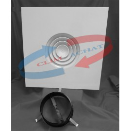 Diffuseur modulaire circulaire avec registre papillon 160 et col d'adaptation