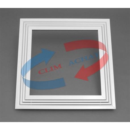 Diffuseur linéaires blanc 1 fente pour plafond modulaire L595xH595