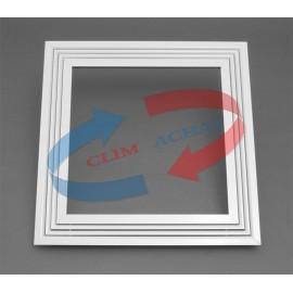 Diffuseur linéaire blanc 4 fentes pour plafond modulaire L595xH595