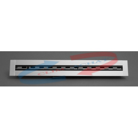 Diffuseur linéaire 4 fentes à ailettes directionnelles avec registre L.1000